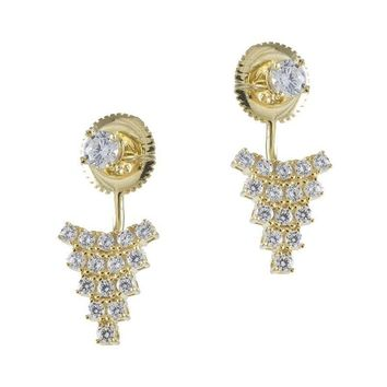 Pave Front to Back Earring