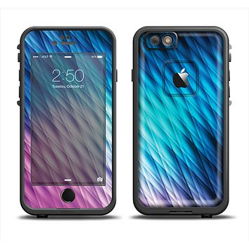 The Vibrant Blue and Pink Neon Interlock Pattern Apple iPhone 6 LifeProof Fre Case Skin Set
