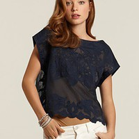 "French Connection ""Georgie"" Cotton Lace Top - Tops - Bloomingdales.com"
