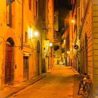 Italy Photography Tuscany Photography Deserted Street with Bicycle in Florence, Italy Art Print Instant Download Italy Picture