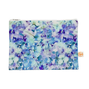 "Carolyn Greifeld ""Floral Fantasy Blue"" Purple White Everything Bag"
