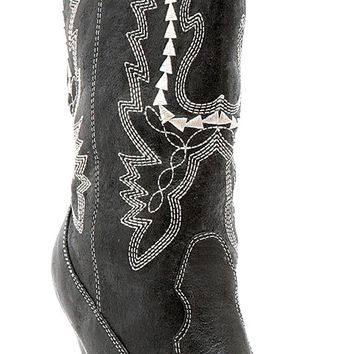 Boots Cowgirl Bk Sz 9 for Halloween 2017