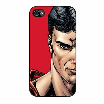 Superman And Wonder Woman Face Couple Left iPhone 4 Case