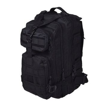 ONETOW JHO-Men Outdoor backpack Military Tactical Backpack Camping Hiking Hunting Trekking Backpack (Black)