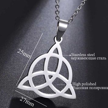Stainless Steel Irish Viking Triquetra Symbol Fine Jewelry