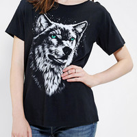 Mont La Roc Midnight Wolf Tee - Urban Outfitters
