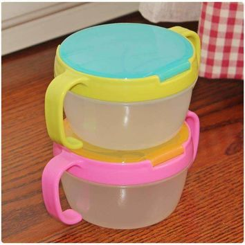 2017New Hot Infants Kid 360 Rotate Spill-Proof Bowl Dishes Tableware Baby Snack Bowl Food Container Feeding Children Assist Food
