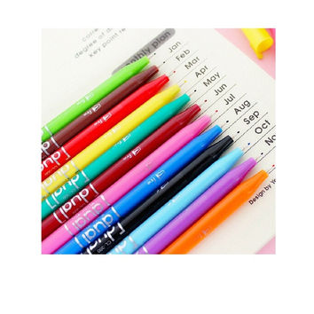 Korean Creative Stationery Candy-colored Stud Dual Pens water-colour paint brush Color gel pen DIY pen Students office stationery pen = 1958251268
