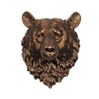 White Faux Taxidermy - Faux Taxidermy - The Halston - Bronze Resin Bear Head- Resin White Faux Taxidermy - Chic & Trendy