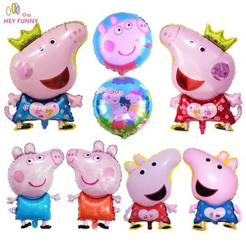 HEY FUNNY Newly Cute Pig Toy Children's Air Foil Balloons Cartoon Pink Pig for Children Funny Party & Birthday Decoration