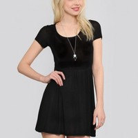 Courtney Babydoll Dress - Black