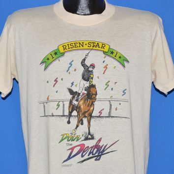 80s Kentucky Derby Risen Star Horse Racing t-shirt Large