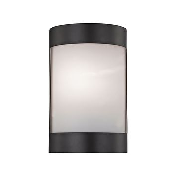 Bella 1 Light Wall Sconce In Oil Rubbed Bronze With White Glass Diffuser