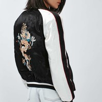 TALL Two-In-One Reversible Sateen Bomber Jacket - Topshop