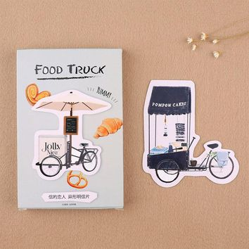 30 pcs/lot novelty Food truck postcard heteromorphism greeting card christmas card birthday message card gift cards