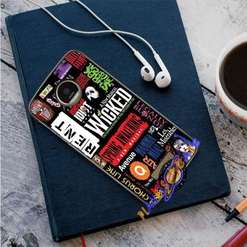 Broadway Musical Collage Motorola Moto Z case Planetscase.com