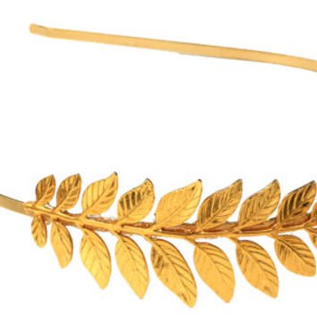 Greek Lily Headband, Greek Goddess Headband, Bridal Hair Accessories, Bridesmaid Headband, Gold Leaf Headband, Crown, Laurel Wreath,