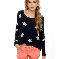 Billabong Homegirlz Po Crop Sweater - Navy Blue Sweater - $69.50
