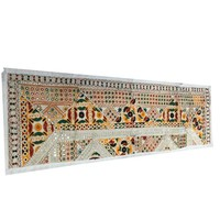 Mogul Vintage Flower Embroidery Table Runner Party Decor Ivory Table Throw Tapestry - Walmart.com