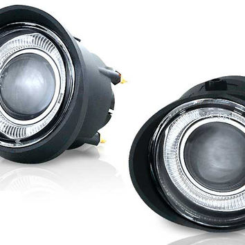 02-04 nissan altima / 03-04 nissan murano / 03-05 infiniti fx35/fx45 halo projector fog light (clear) performance