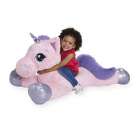 Toys R Us Animal Alley 45 inch Jumbo Stuffed Unicorn - Pink