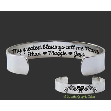 My Greatest Blessings Personalized Bracelet | Gift for Mom