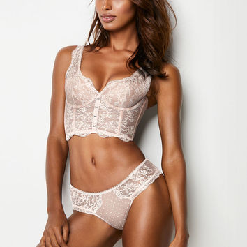 Lace Hook-and-eye Long Line Bra - Dream Angels - Victoria's Secret