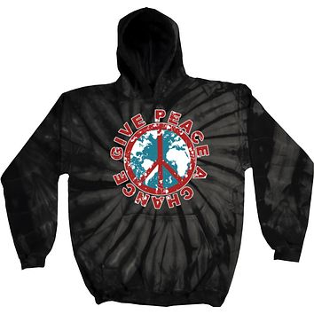 Buy Cool Shirts Give Peace a Chance Tie Dye Hoodie