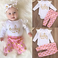 Toddler Infant Newborn Baby Girls Romper Set