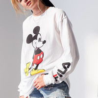FILA+ UO Mickey Long Sleeve Disney Tee | Urban Outfitters
