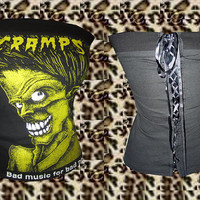 Punk/ Horror/ Punk The Cramps Corset Top. Size XS, S, M, L, XL