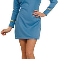 star trek classic blue dress deluxe adult costume | (small)