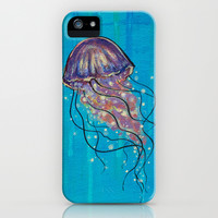 Float like a Jellyfish iPhone & iPod Case by Jellywell Art