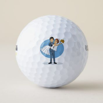 Bride & Groom Golf Balls