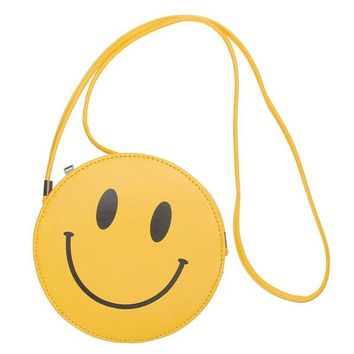 PU Leather Cute Emoji Outdoor Crossbody Bag Casual Shoulder Bag