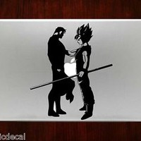 Goku DBZ Vs Superman Comic Hero Decals Stickers For Macbook 13 Pro Air Decal
