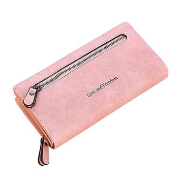 XINIU Women Wallets Candy color super quality Long Wallet Carteira Feminina new style Credit Card Holder wallets