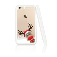 Cute Reindeer Merry Christmas Plastic Phone Case for iphone 6 6s_ SUPERTRAMPshop