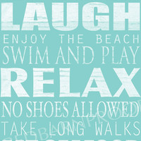 BEACH Sign, Cottage Rules Canvas, Personalized Canvas word art 12x24,  Family Rules, Lakehouse