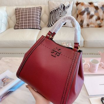 Tory burch Women Leather Shoulder Bag Satchel Tote Bag Handbag Shopping Lea ther Tote Crossbody Satchel Shouder Bag
