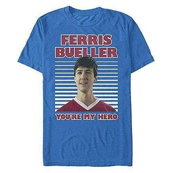 Ferris Bueller's Day Off My Hero Stripe Mens Tee Shirt