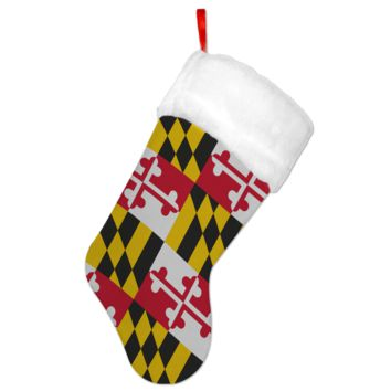 Maryland Flag / Christmas Stocking