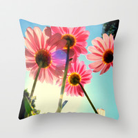 dancing in the sun Throw Pillow by RichCaspian