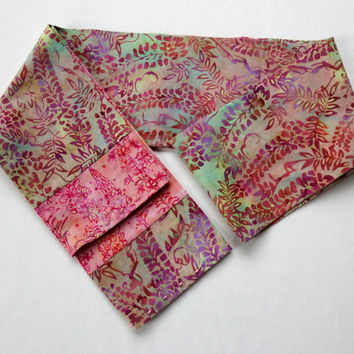 """Pretty Handmade Scarves / Enchanted Garden Scarf / 5"""" Wide  64"""" Long  / Monet Scarf / Embellished Scarves / 2 Rows of Hand Sewn Beads"""