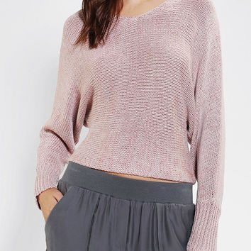 Urban Outfitters - Sparkle & Fade Marl Dolman Cropped Sweater