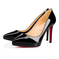 Pigalle Plato 100 Black Patent - Women Shoes - Christian Louboutin