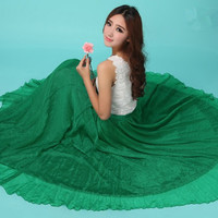 Emerald Green Chiffon Maxi Skirt Long Sundress maternity Wear Holiday Maxi Dress Skirt Beach Skirt