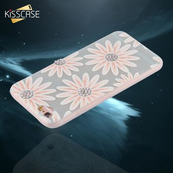 KISSCASE 3D Frosted Soft TPU Art Print Case For iPhone 6 6S Plus Girl Flower Phone Cover Case For iPhone 6 6S Coque Shell Capa