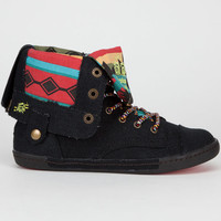 Tigerbear Republik Say What Womens Shoes Black  In Sizes