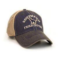 The Howler Trucker Hat in Blue by Southern Fried Cotton